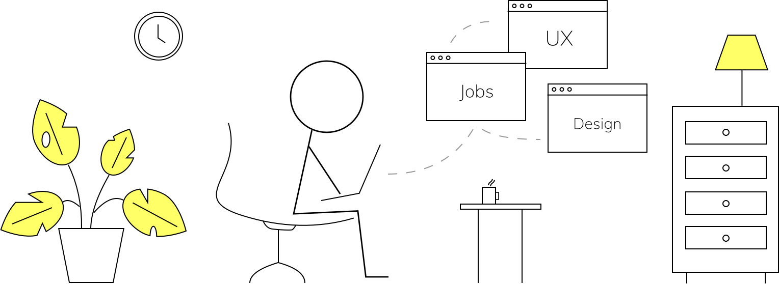 Hero jobs illustration - User Interface Designer